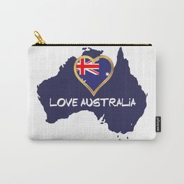 Love Australia Silhouette Map With Flag Carry-All Pouch