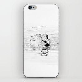 Duck Sketch iPhone Skin