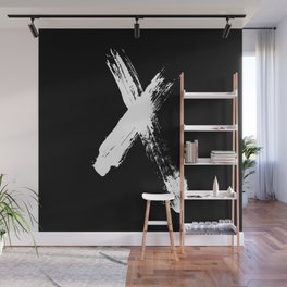 X marks the spot (white) Wall Mural