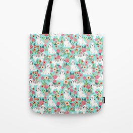 Havanese floral dog breed pure breed dog gifts Tote Bag