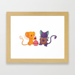 Kero and Suppie Framed Art Print
