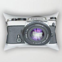Vintage Nikon Camera Rectangular Pillow