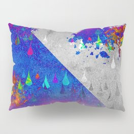 Abstract Colorful Rain Drops Design Pillow Sham