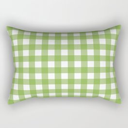 Retro Green Plaid Rectangular Pillow