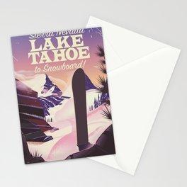 Lake Tahoe Sierra Nevada Snowboarding Stationery Cards