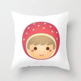 The Strawberry Boy Throw Pillow