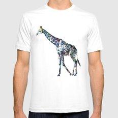 Giraffe 2 MEDIUM White Mens Fitted Tee