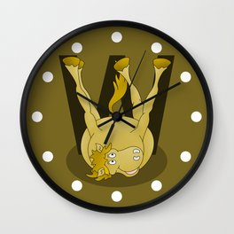 Monogram W Pony Wall Clock