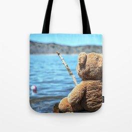 Come on Walter said the fishing teddy bear Tote Bag