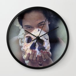 Island Cannibal - Vintage Collage Wall Clock