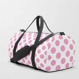 Light Pink Polka Dots Duffle Bag