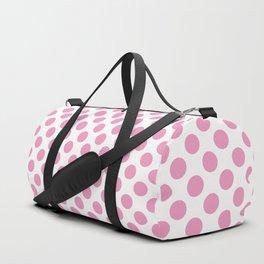 Light Pink Polka Dots Duffle Bag