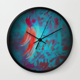 Rare Kaka Flower in Bloom, digitally enhanced photograph New Zealand Wall Clock