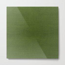 Evergreen Green Christmas Burlap Cloth Metal Print