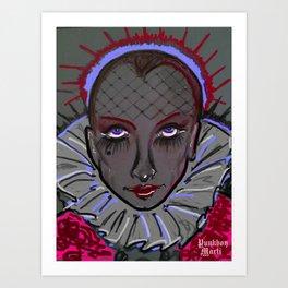 CONTESSA OF THE NIGHT Art Print