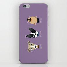 Three wise dogs iPhone & iPod Skin