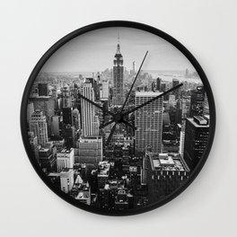 Black & White NYC Skyline Wall Clock