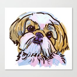 The Shih Tzu always keeps me smiling! Canvas Print