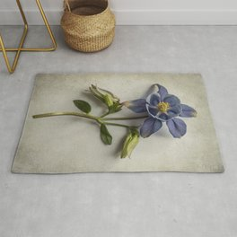 Pretty Dark Blue Columbine Rug