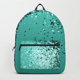 Sparkling Turquoise Lady Glitter #1 #shiny #decor #art #society6 Backpack
