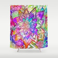 Colorful Shower Curtain graphic-design shower curtains | society6