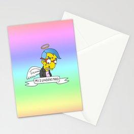 misunderstood milhouse Stationery Cards