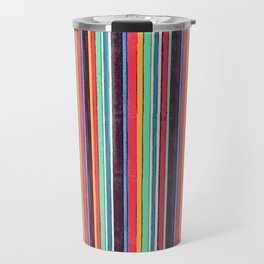 Stripes and pattern in primaries Travel Mug