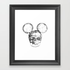 Mickey Skull Framed Art Print