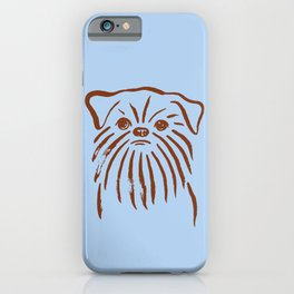 Brussels Griffon (Blue and Brown) iPhone Case