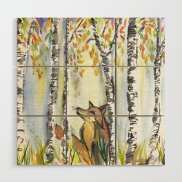 Fox in the Woods Wood Wall Art