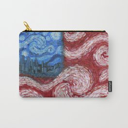 American Flag No. 2 (Starry American Night) Carry-All Pouch