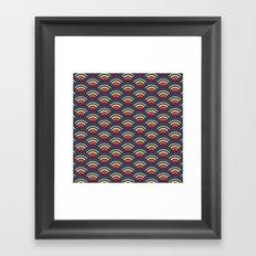 rainbowaves pattern Framed Art Print