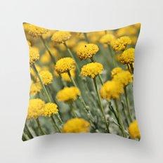 Santolina Grey Throw Pillow