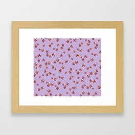 Peppermint Candy in Purple Framed Art Print