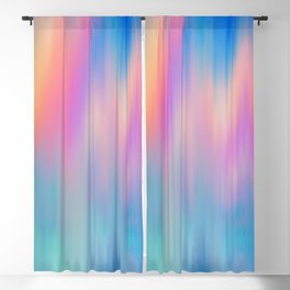 Artsy abstract pink teal blue watercolor brushstrokes Blackout Curtain