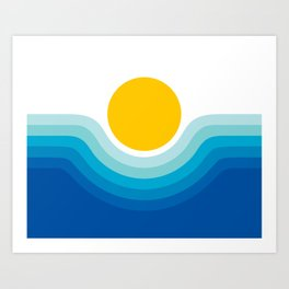 Ocean Canyon Art Print