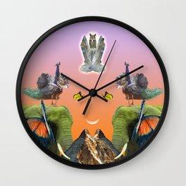 Rainbow Mountain Wall Clock