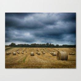 straw bales Canvas Print