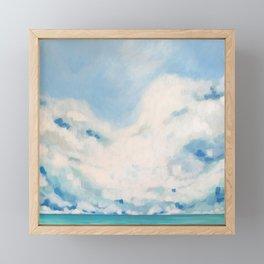 white blur Framed Mini Art Print