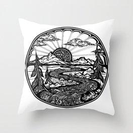 Utopia (Bellingham, WA) Throw Pillow