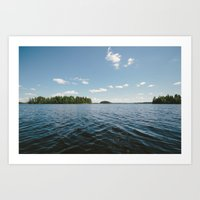 swedish Art Prints featuring Swedish Lake by Andreas Gillström