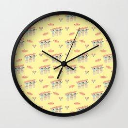 Fiesta!! Mariachi Cactus Band In Yellow Wall Clock