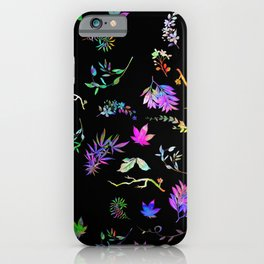 Fiddlehead Ferns and Pot Leaves iPhone Case