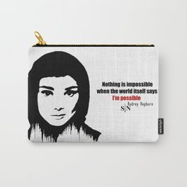 Audrey Hepburn art design ( black and white)  Carry-All Pouch