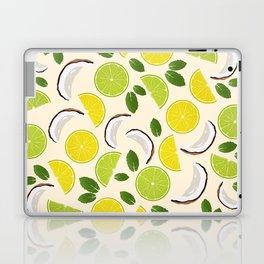 Lime Lemon Coconut Mint pattern Laptop & iPad Skin