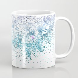 Elegant floral mandala and confetti image Coffee Mug