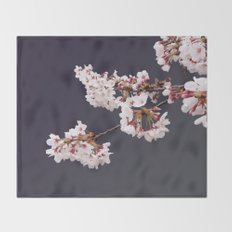 Cherry Blossoms (illustration) Throw Blanket