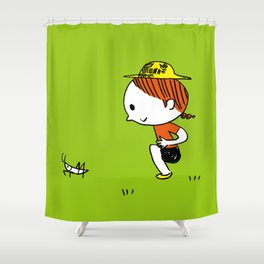 Grasshoppers and girls Shower Curtain