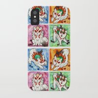 okami iPhone & iPod Cases featuring Okami Set by Jazmine Phillips