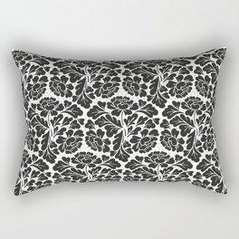 William Morris style Black & white pattern Rectangular Pillow